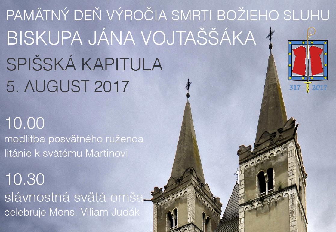 Pamätný deň biskupa Jána Vojtaššáka